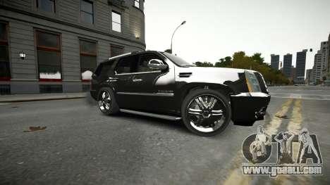 Cadillac Escalade for GTA 4 upper view