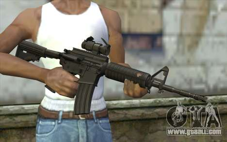Ricks M4A1 from The Walking Dead S3 for GTA San Andreas third screenshot