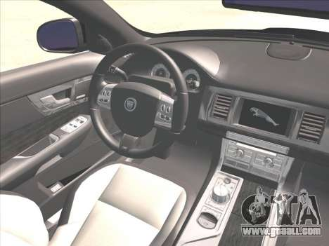 Jaguar XFR for GTA San Andreas side view
