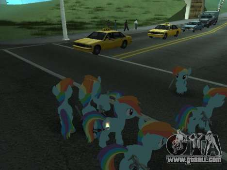 Rainbow Dash for GTA San Andreas eighth screenshot