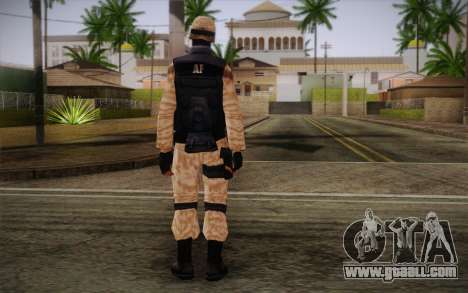 SWAT Desert Camo for GTA San Andreas second screenshot