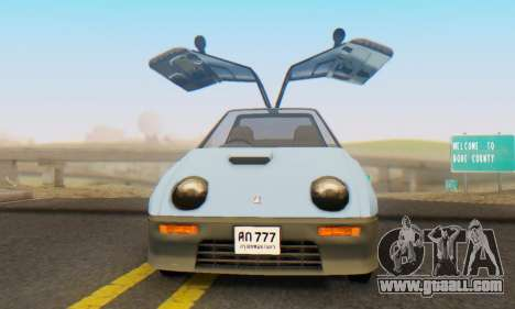 Mazda Autozam AZ-1 for GTA San Andreas back view