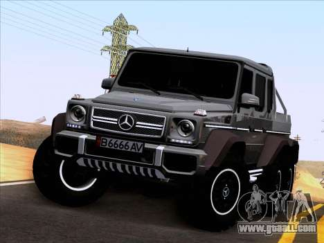Mercedes-Benz G65 AMG 6X6 for GTA San Andreas inner view