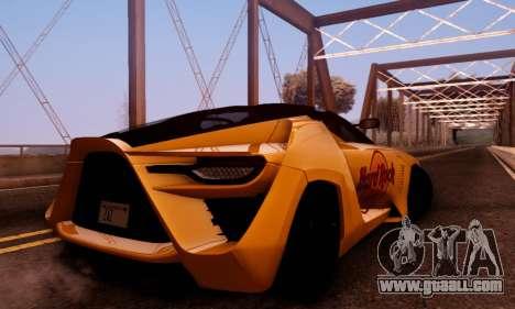Bertone Mantide 2010 Hard Rock Cafe for GTA San Andreas inner view