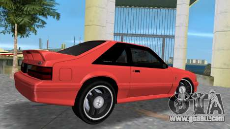 Ford Mustang Cobra 1993 for GTA Vice City back left view