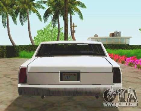 Tahoma Limousine for GTA San Andreas back view