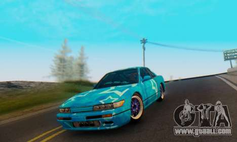Nissan Silvia S13 Blue Star for GTA San Andreas side view
