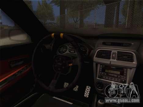 Subaru Impreza Hellaflush for GTA San Andreas right view