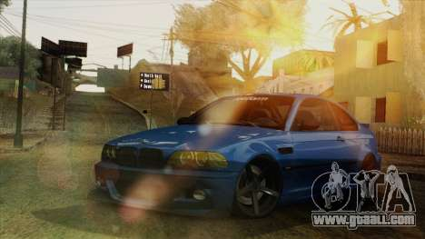 BMW M3 E46 STANCE for GTA San Andreas inner view