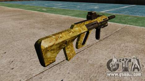 Machine Steyr AUG-A3 Optic Gold for GTA 4 second screenshot