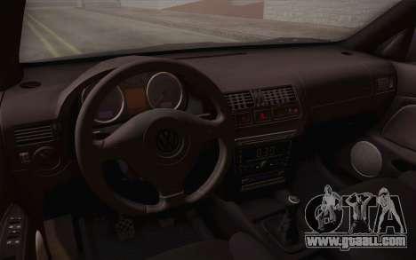 Volkswagen Bora for GTA San Andreas upper view