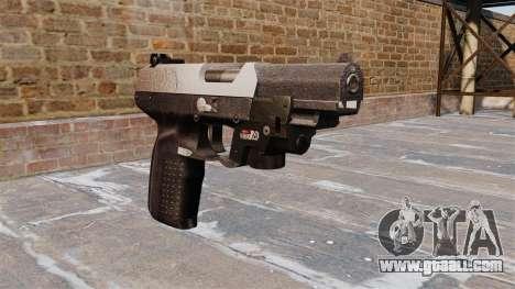 Gun FN Five seveN LAM Chrome for GTA 4
