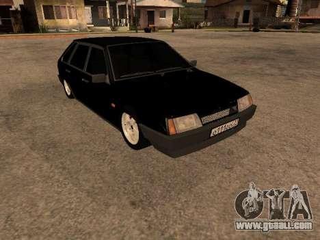 VAZ 2109 Gangster nine V 1.0 for GTA San Andreas back left view