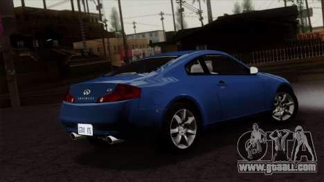 Infiniti G35 Coupe (V35) 2003 for GTA San Andreas left view