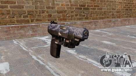 Gun FN Five seveN LAM Blue Camo for GTA 4