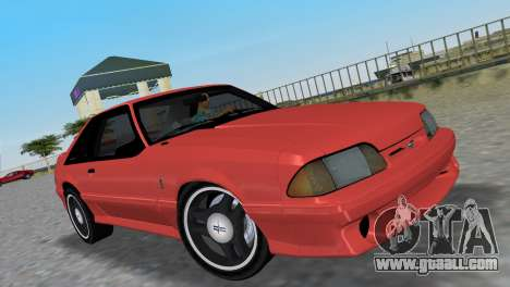 Ford Mustang Cobra 1993 for GTA Vice City back view