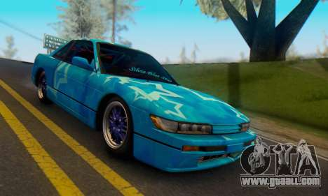 Nissan Silvia S13 Blue Star for GTA San Andreas upper view