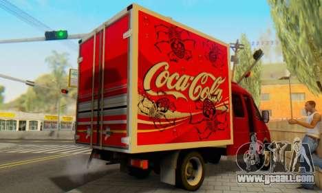33023 GAZelle Coca-Cola for GTA San Andreas back left view
