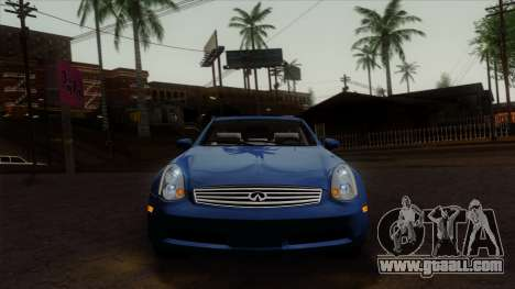 Infiniti G35 Coupe (V35) 2003 for GTA San Andreas back view