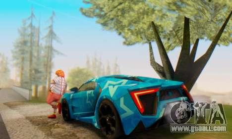 W-Motors Lykan Hypersport 2013 Blue Star for GTA San Andreas