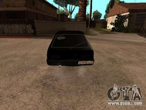 VAZ 2109 Gangster nine V 1.0 for GTA San Andreas back view