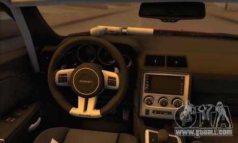 Dodge Challenger SRT8 2012 for GTA San Andreas back view