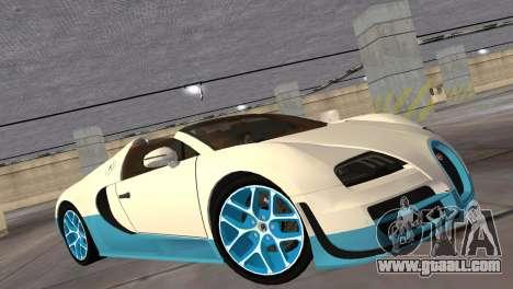 Bugatti Veyron Grand Sport Vitesse for GTA Vice City back left view