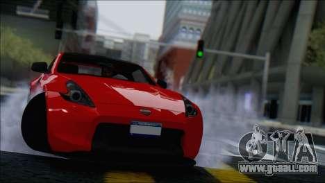 Nissan 370Z Vossen for GTA San Andreas inner view
