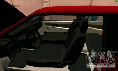 VAZ 2108 Turbo for GTA San Andreas upper view