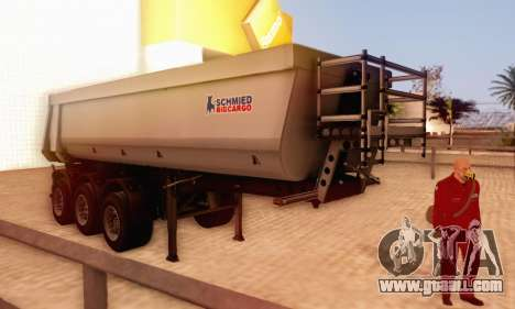 Schmied Bigcargo Solid Stock for GTA San Andreas back left view
