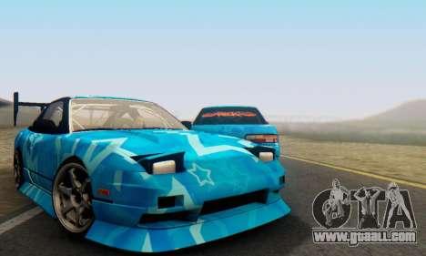 Nissan 240SX Blue Star for GTA San Andreas
