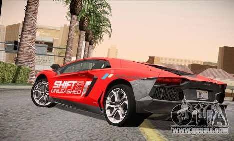 Lamborghini Aventador LP700-4 for GTA San Andreas left view