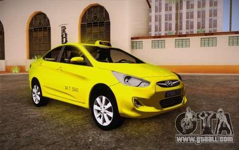 Hyundai Accent Taxi 2013 for GTA San Andreas