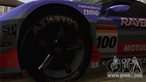 Honda NSX World Grand Prix for GTA San Andreas back left view