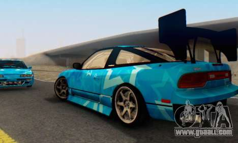 Nissan 240SX Blue Star for GTA San Andreas inner view
