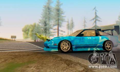 Nissan 240SX Blue Star for GTA San Andreas back left view