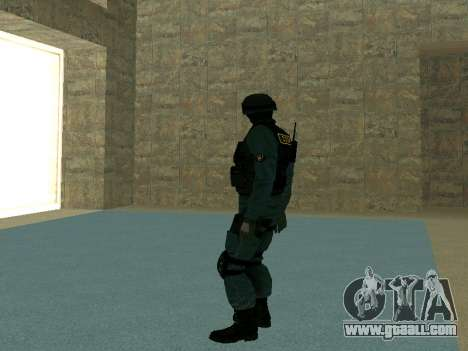 Skin SOBR for GTA San Andreas fifth screenshot