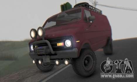 Dodge Tradesman Van 1976 for GTA San Andreas left view
