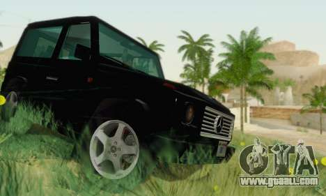 Mercedes-Benz G500 1999 Short for GTA San Andreas inner view