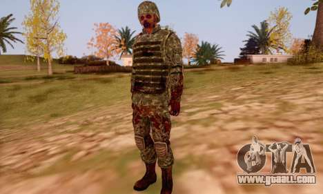 Zombie Soldier for GTA San Andreas sixth screenshot
