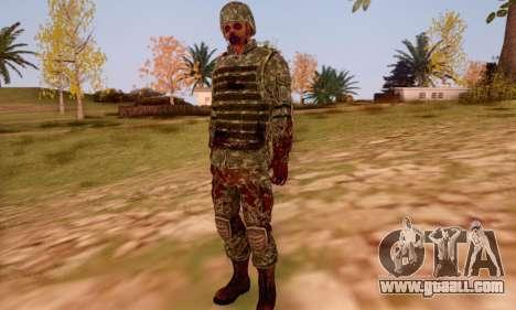 Zombie Soldier for GTA San Andreas sixth screenshot
