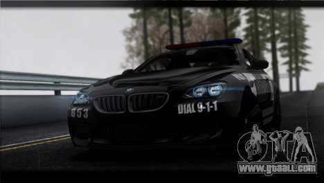 BMW M6 Coupe Redview Police for GTA San Andreas