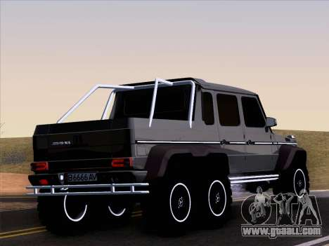 Mercedes-Benz G65 AMG 6X6 for GTA San Andreas upper view
