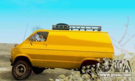 Dodge Tradesman Van 1976 for GTA San Andreas back view