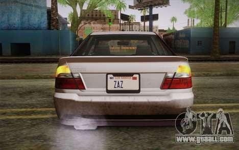 Sultan из GTA 5 for GTA San Andreas back view