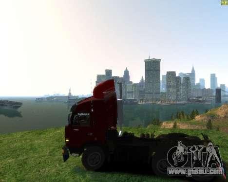KamAZ 54115 for GTA 4 left view