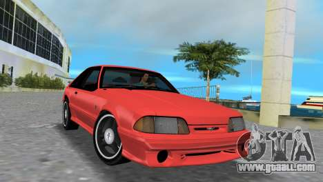 Ford Mustang Cobra 1993 for GTA Vice City left view