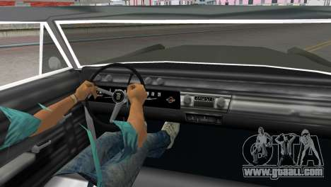 Cadillac DeVille 1967 Lowrider for GTA Vice City back left view