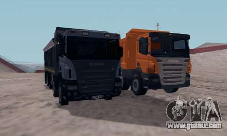 Scania P420 for GTA San Andreas back view
