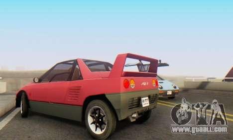 Mazda Autozam AZ-1 for GTA San Andreas inner view